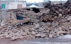 الصورة: الصورة: وفاة شخصين وإصابة 13 آخرين جراء زلزال إيران
