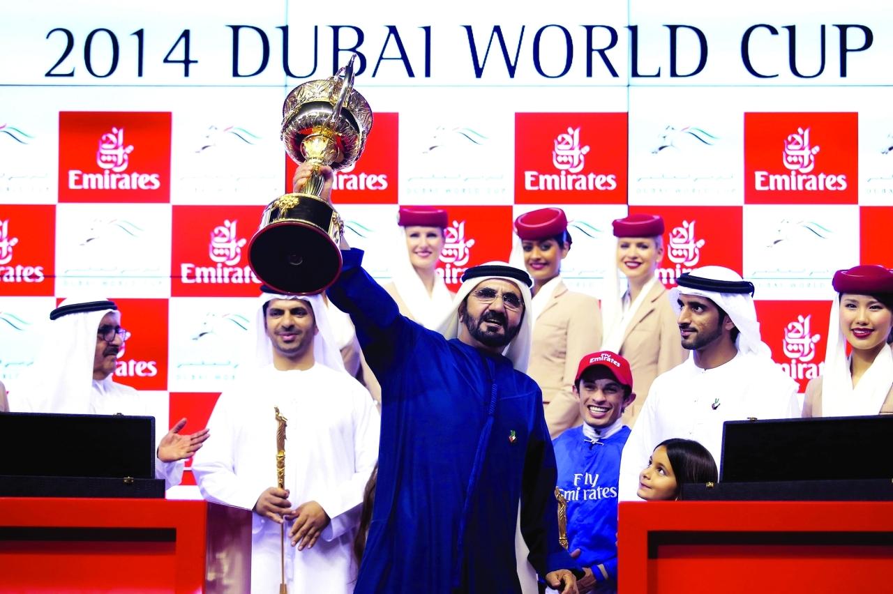 الصورة : كأس دبي العالمي للخيول واكبته «البيان» بتغطيات متميزة منذ انطلاقه في 1996 عبر ملاحق ونشرات وكتيبات خاصة | البيان