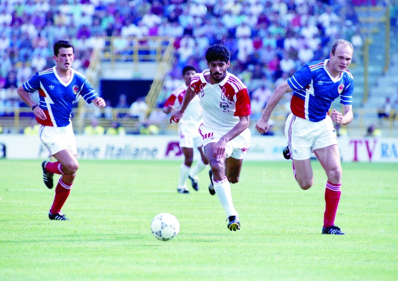 الصورة : «البيان» كانت شاهدة على مشاركة الأبيض في كأس العالم- إيطاليا 1990 | البيان