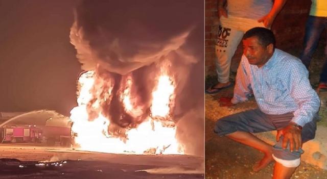 شجاعة سائق مصري تحول دون وقوع كارثة كبيرة - عالم واحد - حوادث - البيان