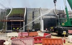 الصورة: الصورة: إخماد حريق في موقع إكسبو ولا إصابات