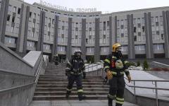 الصورة: الصورة: بالفيديو.. وفاة 5 أشخاص بحريق في مستشفى لمصابين بـكورونا في روسيا