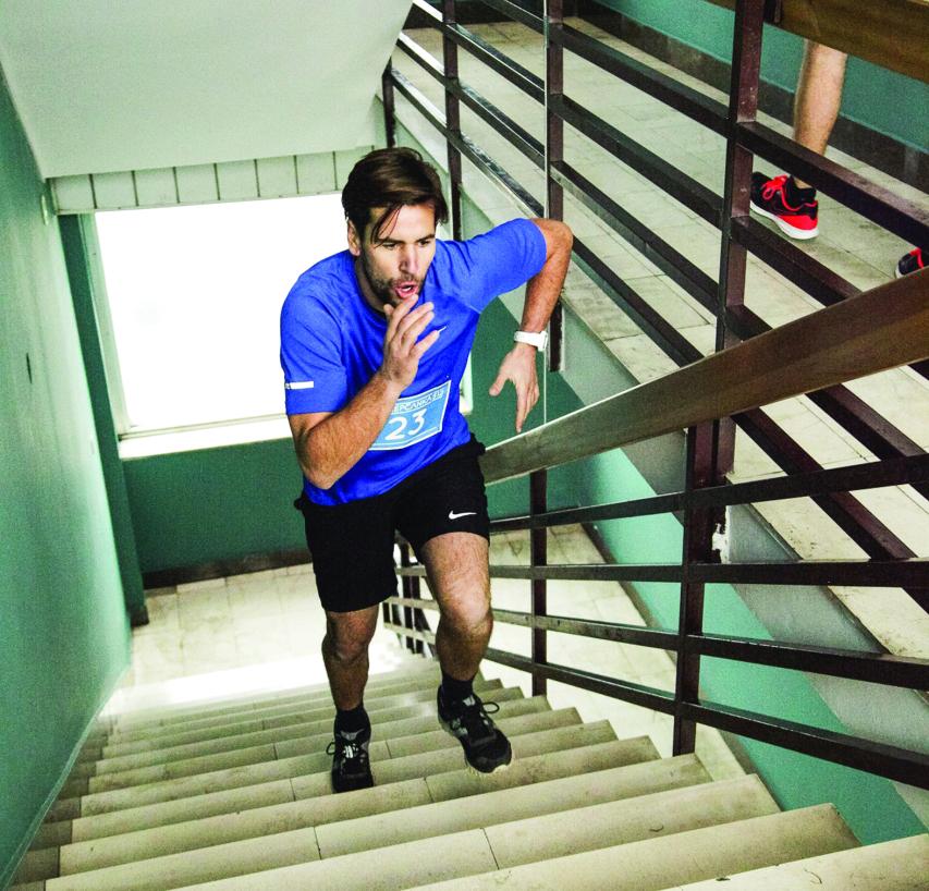 الصورة : تحدٍ جديد لتسلق الدرج بما يوازي ارتفاع برج خليفة  |   من المصدر