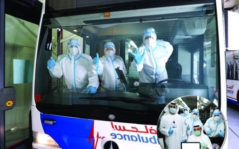 الصورة: الصورة: أكبر حافلة لفحص «كورونا»