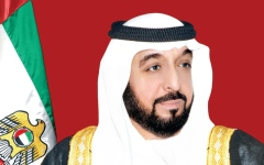 الصورة: الصورة: حكام الإمارات وأولياء العهود ونواب الحكام يهنئون رئيس الدولة ونائبه ومحمد بن زايد بعيد الفطر السعيد