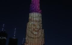 الصورة: الصورة: بالفيديو..ذهب دبي يلمع على برج خليفة