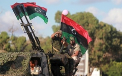 الصورة: الصورة: أردوغان يُغرق ليبيا بـ «مُسيّرات الإرهاب» والجيش الوطني بالمرصاد