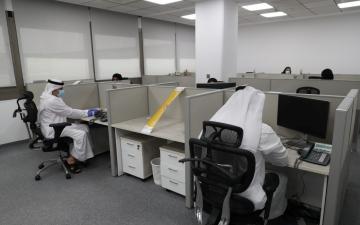 الصورة: الصورة: بلدية دبي تستقبل 50 % من الموظفين وسط اجراءات احترازية