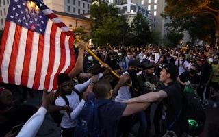الصورة: الصورة: تظاهرات مناهضة للعنصرية عمت الولايات المتحدة