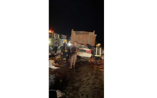 الصورة: الصورة: شاحنة تودي بحياة 8 أفراد من عائلة واحدة في السعودية