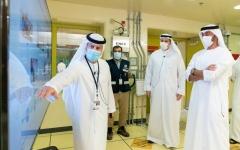 الصورة: الصورة: محمد بن زايد يطلع على سير العمل في محطات براكة للطاقة النووية