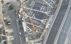 الصورة: الصورة: رافعات البناء تباشر تشييد أعلى فندق في العالم بدبي
