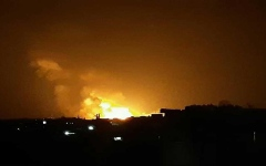 الصورة: الصورة: بالفيديو.. انفجار عنيف يهزّ مدينة حماة السورية
