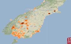 الصورة: الصورة: زلزال بقوة 6 درجات يضرب نيوزيلندا