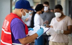 الصورة: الصورة: إصابات كورونا في أمريكا تتجاوز 2.5 مليون إصابة و125340 وفاة
