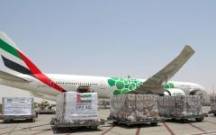 الصورة: الصورة: الإمارات ترسل طائرة المساعدات الرابعة إلى إيران