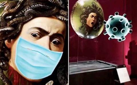 """الصورة: الصورة: متحف إيطالي يثير ضجة لاستخدامه """"تيك توك"""" لبث الحياة في تماثيله"""