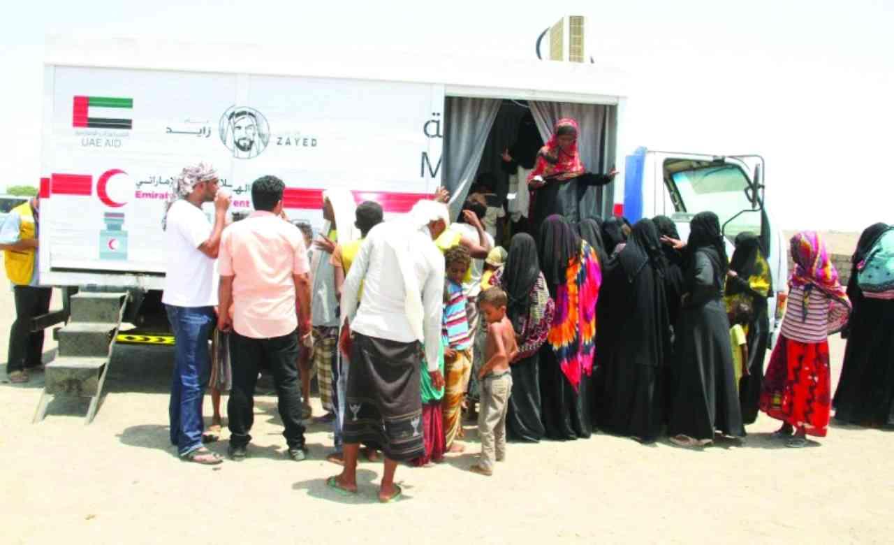 الصورة : مساعدات إماراتية متواصلة للشعب اليمني / أرشيفية