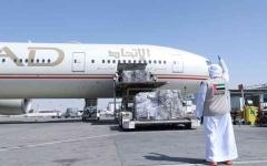 الصورة: الصورة: «الاتحاد» تشغّل 106 رحلات مساعدات إلى 54 وجهة
