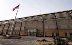 الصورة: الصورة: هجوم صاروخي استهدف محيط السفارة الأمريكية وسط بغداد