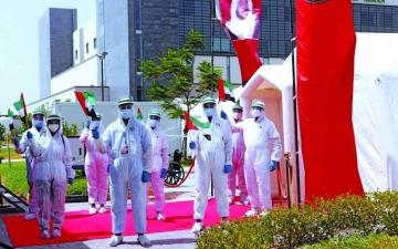 الصورة: الصورة: 100000 ساعة تطوّع لعلاج «كورونا» بالمستشفى الميداني في عجمان