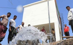 الصورة: الصورة: الإمارات تنفذ 32 مشروعا لمياه الشرب بالساحل الغربي اليمني