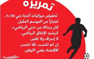 الصورة: الصورة: تخفيض ميزانيات أندية دبي 20 %