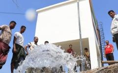 الصورة: الصورة: الإمارات تروي عطش 600 ألف يمني بالساحل الغربي