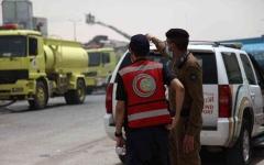 الصورة: الصورة: حريق هائل بأحد فنادق العاصمة السعودية وإصابة 22 شخصا