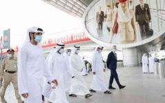الصورة: الصورة: حمدان بن محمد يتفقد استعدادات عودة السياحة في مطار دبي