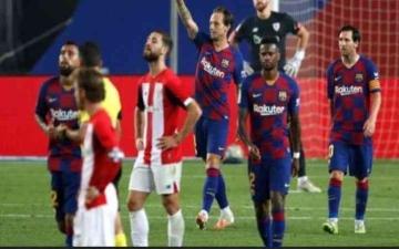 الصورة: الصورة: برشلونة يهزم بلد الوليد ويواصل مطاردة ريال مدريد
