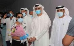 """الصورة: الصورة: خروج آخر مجموعة من المتعافين من كورونا من المستشفى الميداني في """"دبي باركس آند ريزورتس"""""""