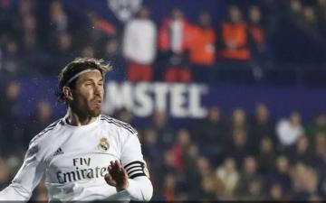 الصورة: الصورة: راموس على بعد هدف لدخول نادي المئة مع ريال مدريد