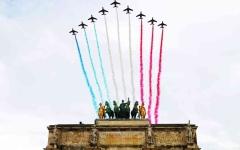 الصورة: الصورة: «كورونا» يفرض على فرنسا اختصار احتفالات عيدها الوطني