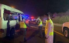 الصورة: الصورة: وفاة 4 أشخاص وإصابة 11 آخرين في حادث مروري بدبي