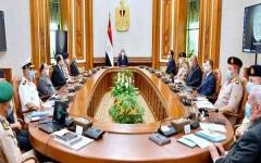 الصورة: الصورة: الرئيس المصري يترأس مجلس الدفاع الوطني ويبحث تطورات سد النهضة و ليبيا