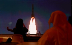 الصورة: الصورة: انطلاق مسبار الأمل في رحلته التاريخية لاستكشاف المريخ