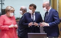"""الصورة: الصورة: قادة أوروبا يتفقون على برنامج المساعدات في """"قمة كورونا"""""""