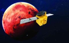 الصورة: الصورة: أجهزة «مسبار الأمل» تدرس أسباب هروب الأكسجين والهيدروجين من المريخ