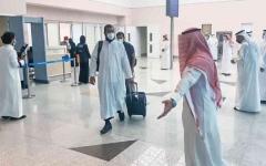 الصورة: الصورة: بالصور.. وصول الدفعة الأولى من الحجاج إلى مكة