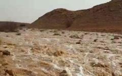 الصورة: الصورة: في حادثة نادرة.. هطول أمطار صيفية في الرياض بالسعودية