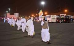 الصورة: الصورة: اكتمال وصول حجاج بيت الله الحرام  إلى مزدلفة