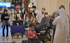 الصورة: الصورة: مطار دبي يعج بالمسافرين عشية العيد