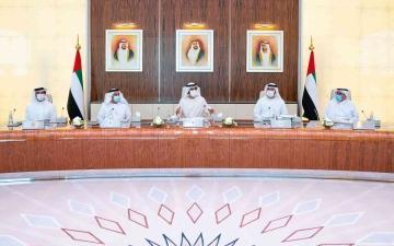 الصورة: الصورة: محمد بن راشد يترأس أول اجتماع حضوري لمجلس الوزراء