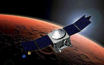الصورة: الصورة: منظمة البحوث الفضائية الهندية: بيانات «مسبار الأمل» ستوفر معطيات جوهرية لمهمة الهند للمريخ