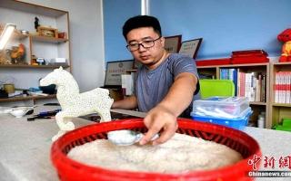 الصورة: الصورة: إبداع فنّي بحبات الأرز