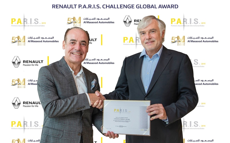 الصورة: الصورة: المسعود للسيارات تحصد «الجائزة العالمية لوكلاء رينو»