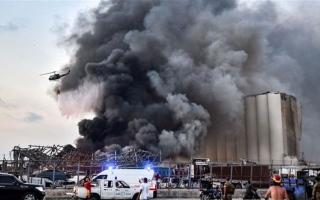 الصورة: الصورة: إصابة زوجة سفير هولندا بجروح خطيرة في انفجار بيروت