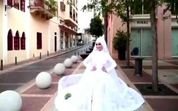 الصورة: الصورة: (فيديو) عروس بيروت.. فرحة لم تكتمل