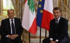 الصورة: الصورة: الرئيس الفرنسي إيمانويل ماكرون يصل بيروت